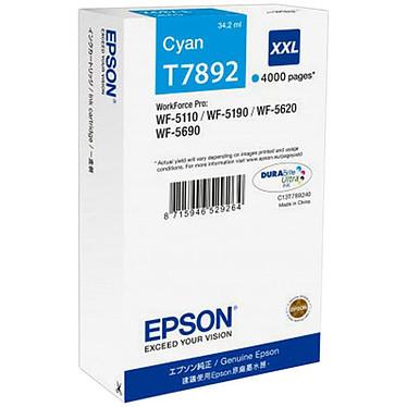 Epson T7892 (C13T789240)  Cartouche d'encre Cyan XXL (4 000 pages à 5%)