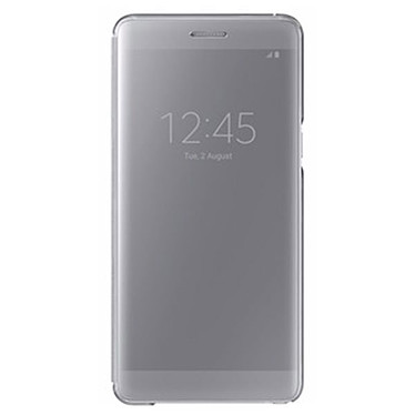 Samsung Clear View Cover Argent Samsung Galaxy Note7  Etui à rabat avec affichage date/heure pour Samsung Galaxy Note7