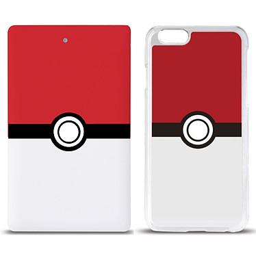 Swiss Charger Pack Pokémon + Coque de protection Batterie externe 4000 mAh + coque de protection pour iPhone 6/6s/7