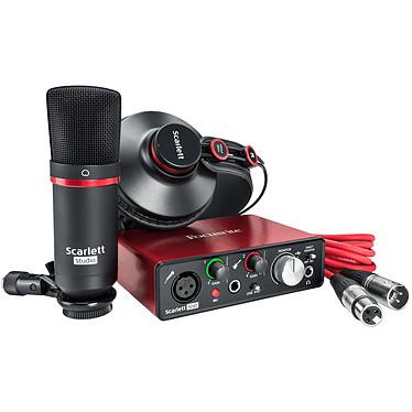 Focusrite Scarlett Solo Studio 2ª Generación Interfaz de audio USB 2 entradas / 2 salidas con micrófono y auriculares