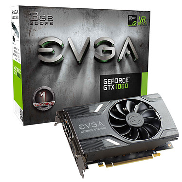 EVGA GeForce GTX 1060 3GB GAMING 3072 MB DVI/HDMI/Tri DisplayPort - PCI Express (NVIDIA GeForce con CUDA GTX 1060)