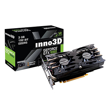 Inno3D GeForce GTX 1060 3GB Twin X2 3072 Mo DVI/HDMI/Tri DisplayPort - PCI Express (NVIDIA GeForce avec CUDA GTX 1060)