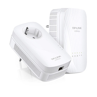 TP-LINK TL-WPA8730 KIT Adaptateur CPL AV1200 Mbps 1 port avec prise cigogne + adaptateur CPL Dual-Band Wi-Fi AC 1750 Mbps (AC1300 + N450) 2X2 MIMO 3 ports