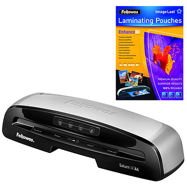 Fellowes Plastifieuse Saturn 3i A4 + 100 Pochettes A4 Fellowes OFFERTES !