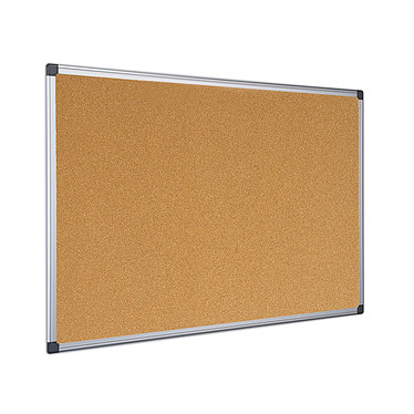 Bi-Office Tableau liège (120 x 90 cm) Tableau en liège de 120 x 90 cm avec cadre en aluminium