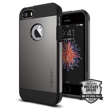 Spigen Case Tough Armor Gun Metal Apple iPhone SE/5/5s Coque de protection pour Apple iPhone SE/5/5s