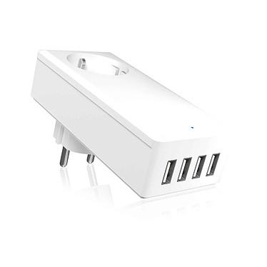 Icy Box IB-CH404 Cargador USB eléctrico con 4 puertos.