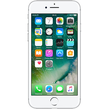 "Apple iPhone 7 32 Go Argent Smartphone 4G-LTE Advanced IP67 - Apple A10 Fusion Quad-Core 2.3 GHz - RAM 2 Go - Ecran Retina 4.7"" 750 x 1334 - 32 Go - NFC/Bluetooth 4.2 - iOS 10"