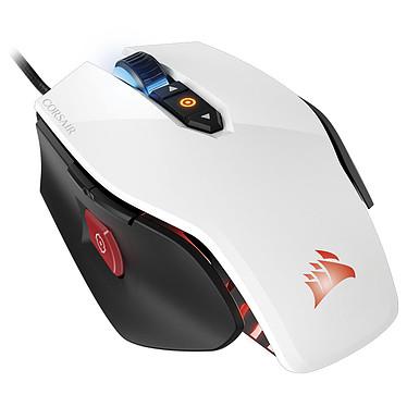 Corsair Gaming M65 Pro RGB (blanco) Ratón para juegos - para diestros - sensor óptico 12 000 dpi - 8 botones - botón de francotirador - interruptores Omron - retroiluminación RGB - peso ajustable