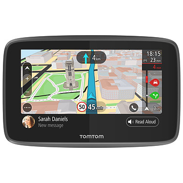 """TomTom GO 5200 GPS Monde Ecran 5"""" - Cartographie, Trafic et Zones de danger gratuits à vie - Carte SIM - Wi-Fi"""