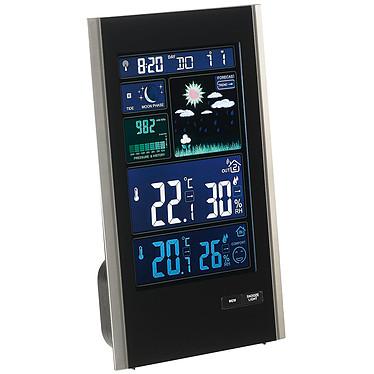 ClipSonic SL250 Station météo barométrique radio-pilotée avec sonde extérieure sans fil et port USB