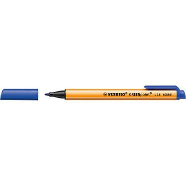 STABILO GREENpoint Azul Rotulador con punta ancha 0,8 mm tinta azul