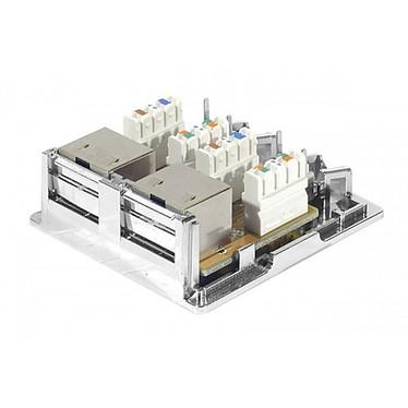 Acheter Plastron 2 x RJ45 femelle blindé Catégorie 6 contact CAD