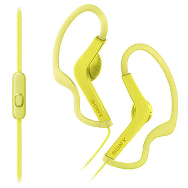 Sony MDR-AS210AP Jaune  Écouteurs intra-auriculaires étanches avec télécommande et micro