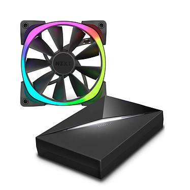 NZXT HUE+ + Aer RGB 140 mm Caja de control completa para iluminación LED + 2 ventiladores LED PWM LED 140 mm RGB