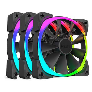 NZXT Aer RGB 120 mm Triple Pack Pack de 3 ventilateurs PWM LED 120 mm à LEDs RGB