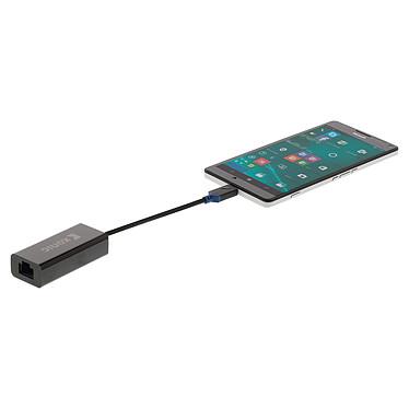 Comprar Adaptador USB 3.1 tipo C (USB-C) macho a Gigabit Ethernet RJ45 hembra (negro)