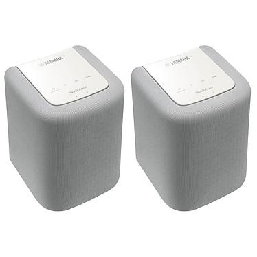Yamaha MusicCast Twin WX-010 Blanc  2 enceintes sans fil multiroom Wi-Fi et Bluetooth avec MusicCast