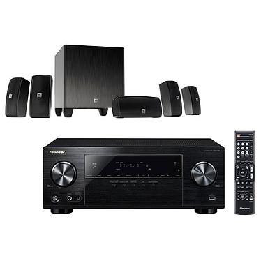 Pioneer VSX-531B + JBL Cinema 610 Ampli-tuner Home Cinéma 5.1 Bluetooth, HDCP 2.2, et Upscaling Ultra HD 4K avec 4 entrées HDMI + Ensemble 5.1