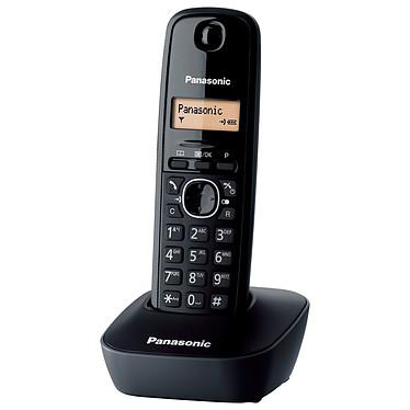 Panasonic KX-TG1611FR Solo Noir Téléphone DECT sans fil (version française)