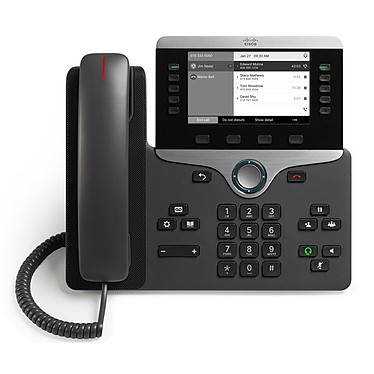 Cisco IP Phone 8811 avec micrologiciel de téléphone multiplateforme Téléphone VoIP 4 lignes PoE avec micrologiciel de téléphone multiplateforme