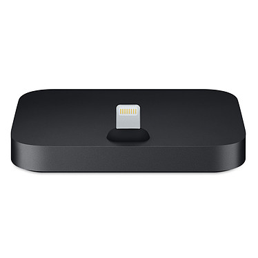 Apple Lightning Dock Noir  Station de rechargement / synchronisation pour iPhone 5 / 5c / 5s / SE / 6 / 6 Plus / 6s / 6s Plus / 7 / 7 Plus et iPod Touch 5e et 6e génération