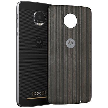 Motorola Mods funda Charbon de Bois Moto Z/Z Play Carcasa de madera con imanes integrados para Motorola Moto Z/Z Play