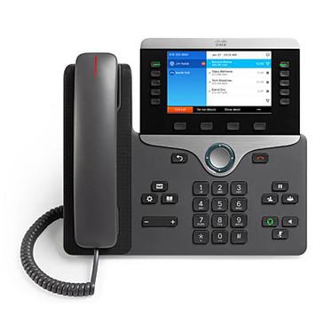 Cisco IP Phone 8841 avec micrologiciel de téléphone multiplateforme Téléphone VoIP 5 lignes PoE avec micrologiciel de téléphone multiplateforme