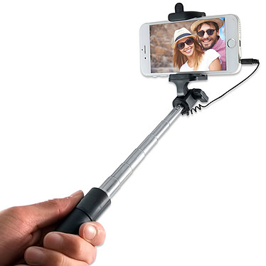 Akashi Perche selfie télescopique avec déclencheur Perche-support télescopique pour selfie photo et vidéo avec déclencheur