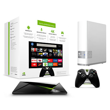 NVIDIA SHIELD Android TV 16 Go + WD My Cloud 2 To