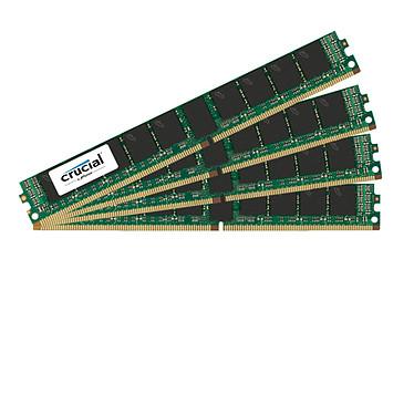Crucial DDR4 128 GB (4 x 32 GB) 2400 MHz CL17 ECC Registered DR X4 VLP Kit RAM de cuatro canales DDR4 PC4-19200 - CT32G4VFD424A RAM (10 años de garantía de Crucial)