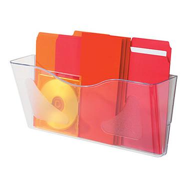 deflecto Docupockets 297 Clasificador de pared 1 caja transparente Archivador de pared horizontal transparente con 1 caja tamaño A4