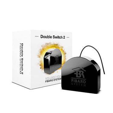 Fibaro Double Swtich 2 FGS-223 Double module commutateur encastrable radio commandé Z-Wave Plus pour automatismes Fibaro