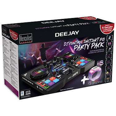 Hercules DJControl Instinct P8 Party Pack a bajo precio