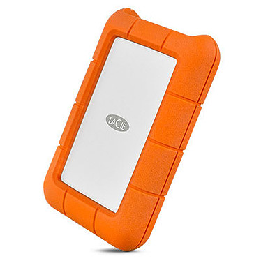 LaCie Rugged USB-C 5 To (Apple) Disque dur externe antichoc 2.5'' sur port USB 3.0 type C - Apple - Inclus 2 ans de services Rescue (garantie constructeur 2 ans)