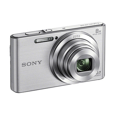 "Sony DSC-W830 plata Cámara de 20,1 MP - Zoom óptico 8x - HD 720p - Monitor LCD de 2,7""."
