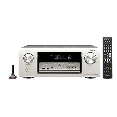 Denon AVR-X6300H Argent Ampli-tuner A/V réseau 11.2 - 205W - Dolby Atmos et DTS:X - Multi-room - 3D Ready - DLNA/AirPlay/Bluetooth/Wi-Fi - 8 entrées HDMI 4K Ultra HD, HDCP 2.2