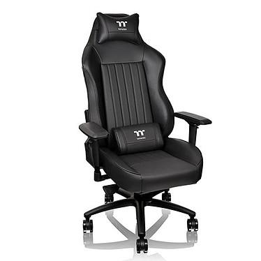 Tt eSPORTS by Thermaltake X Comfort 500 (noir) Siège en simili-cuir avec dossier inclinable à 160° et accoudoirs 4D pour gamer (jusqu'à 150 kg)