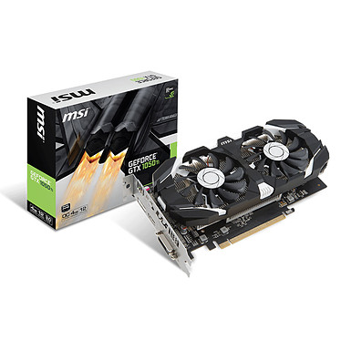 MSI GeForce GTX 1050 TI 4GT OC 4096 Mo DVI/HDMI/DisplayPort - PCI Express (NVIDIA GeForce avec CUDA GTX 1050 Ti)