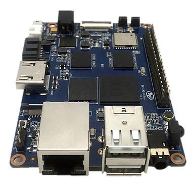 Banana Pi BPI-M2 Ultra Carte mère avec processeur ARM Cortex A7 Quad-Core 1.8Ghz - RAM 2 Go - GPU ARM Mali400 - RJ45 - HDMI - 2x USB 2.0 - Wi-Fi N / Bluetooth 4.0