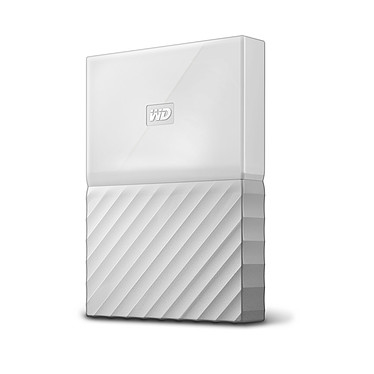"WD My Passport 1 To Blanc (USB 3.0) Disque dur externe 2.5"" sur port USB 3.0 / USB 2.0"
