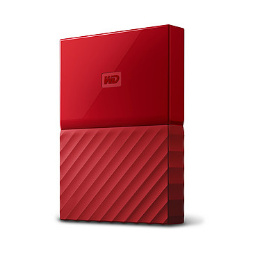 "WD My Passport 1 To Rouge (USB 3.0) Disque dur externe 2.5"" sur port USB 3.0 / USB 2.0"