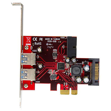 Avis StarTech.com Carte contrôleur PCI Express à 4 ports USB 3.0 - 2 externes 2 internes