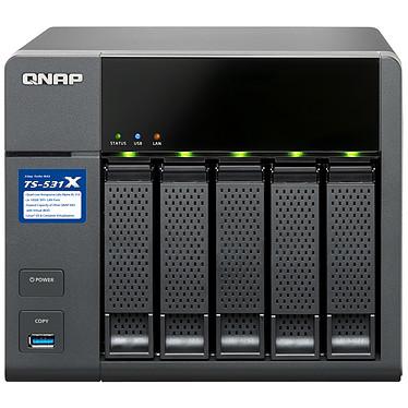"""QNAP TS-531X-2G Serveur NAS professionnel 5 baies HDD/SSD 3.5""""/2.5"""" SATA 6GB/S (sans disque dur) et 2 Go de RAM DDR3"""