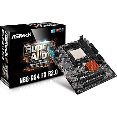 ASRock N68-GS4 FX R 2.0 Carte mère Micro ATX Socket AM3/AM3+ NVIDIA GeForce 7025 - SATA 3Gb/s - USB 2.0