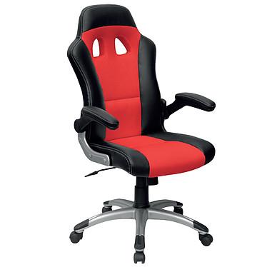 "MT international MTGA-284 Rouge Fauteuil ""Racing Chair"" haut dossier en mesh avec accoudoirs fixes"