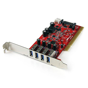 StarTech.com PCIUSB3S4 Carte contrôleur PCI (4 ports USB 3.0)