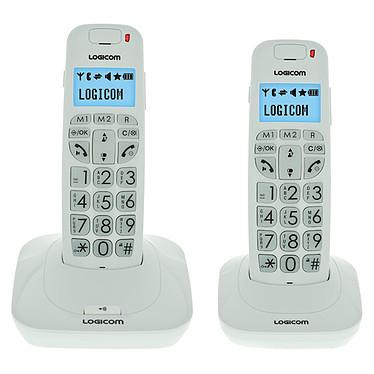 Logicom Confort 250 Blanc Téléphone DECT sans fil pour senior avec haut parleur et combiné supplémentaire (version française)