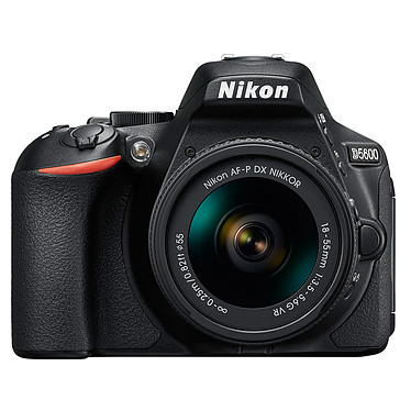 Nikon D5600 + AF-P DX NIKKOR 18-55mm VR Appareil photo 24.2 MP - Vidéo Full HD - Écran tactile - Wi-Fi - Bluetooth + AF-P DX NIKKOR 18-55mm f/3.5-5.6G VR