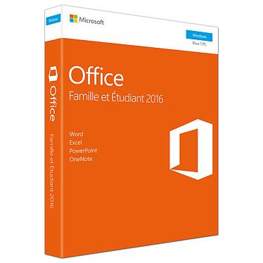 Microsoft Office Famille et Etudiant 2016 Licence 1 utilisateur pour 1 PC (carte d'activation)